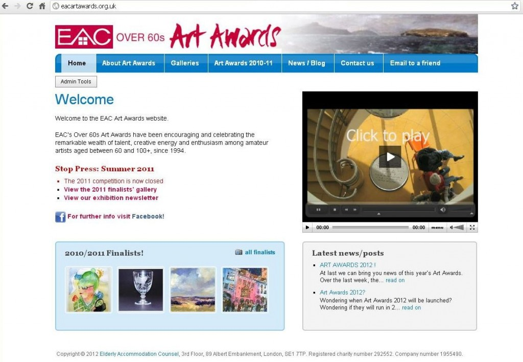 EAC Art Awards 2nd website  2009
