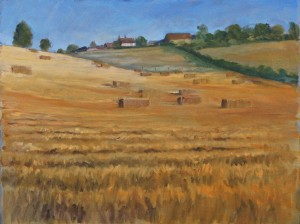 Near Welwyn Oil Sketch