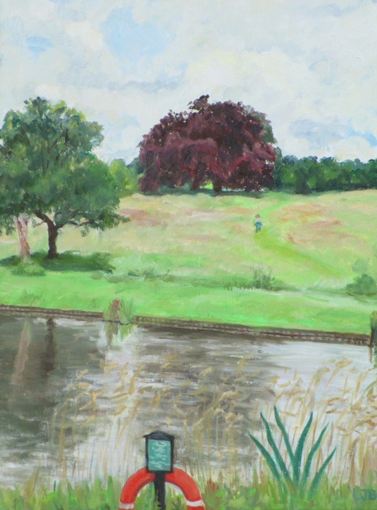 FirstpaintingHighgate Pond1